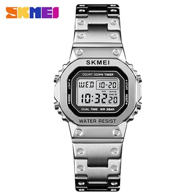 SKMEI Luminous Analog Dual Time Digital Waterproof Quartz Women's Watch (Model: 1433) Silver