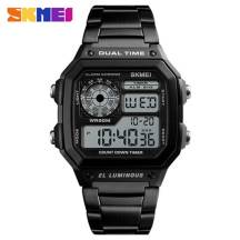 SKMEI Luminous Dual Time 50m Depth Waterproof Electronic Digital Sport Men's Watch (Model: 1335)