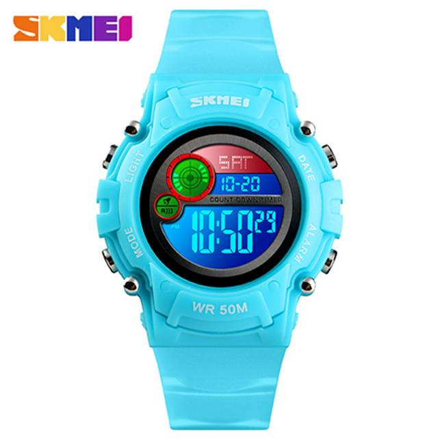 SKMEI LED 50m Waterproof Digital Kids Sport Watch (Model: 1477)