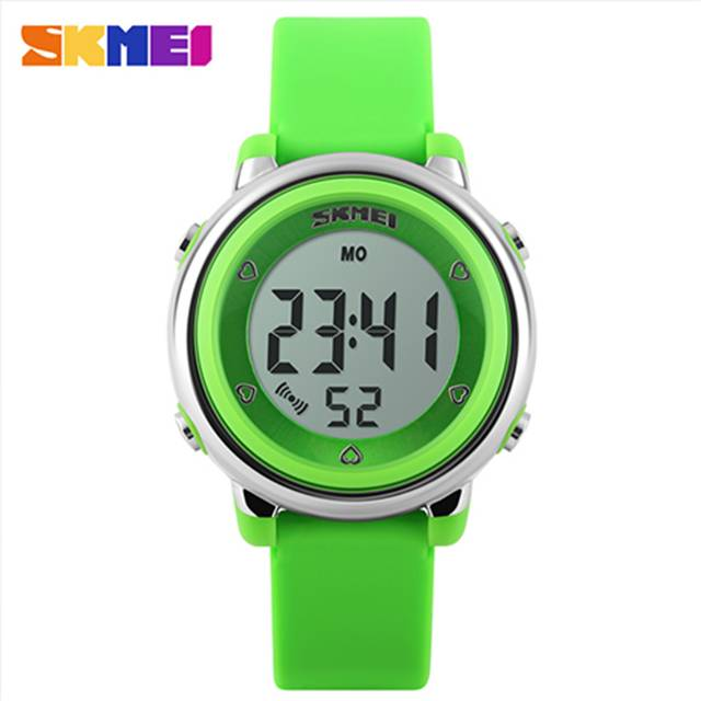 SKMEI LED Alarm Colorful Backlight Digital Kids Sport Waterproof Watch (Model: 1100)