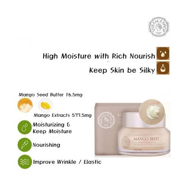 The Face Shop  Mango Seed Facial Butter (50ml) (FSS-02B)