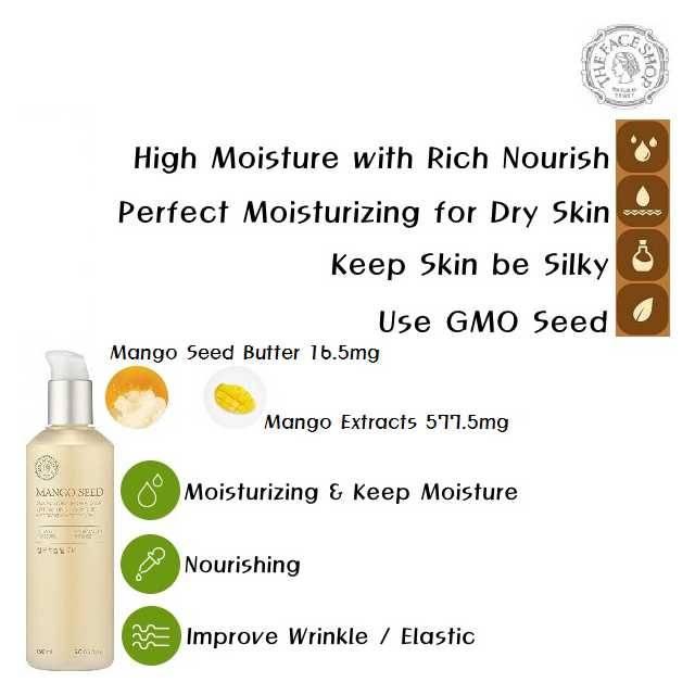 The Face Shop Mango Seed Silk Moisturizing Deep Toner (165ml) (FSS-02TR)