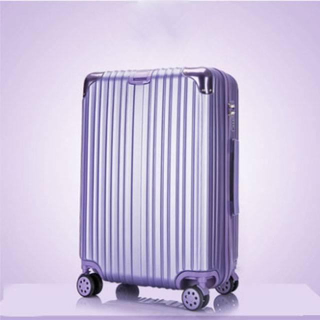 "20"" Inch Short trip Universal Wheel Password Lock Trolley Metallic Purple Luggage (MODEL: 1211ZJ)"