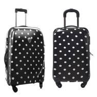 "20"" Inch Polka Dot Candy Pink Universeal Wheel Password Lock Travel Trolley Luggage (Model: GL19B)"
