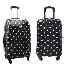"20"" Inch Polka Dot Candy Pink Universeal Wheel Password Lock Travel Trolley Luggage (Model: GL19B)"