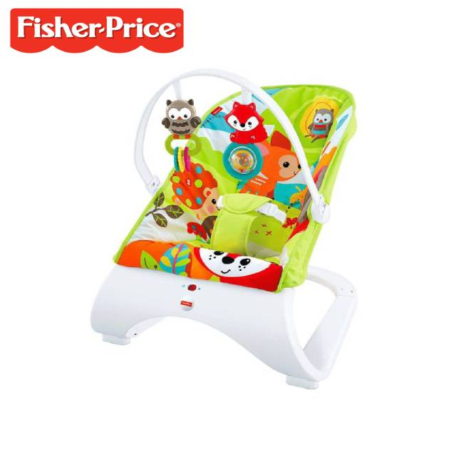 Fisher-Price Woodland Friends Comfort Curve Bouncer (Model: CMV29) (FO19M)