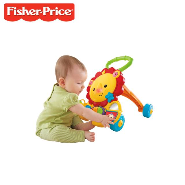 Fisher Price Four-wheeled Music Baby Lion Walker (Model: Y9854)