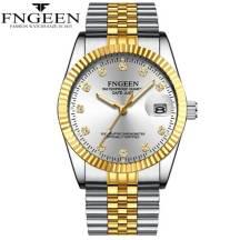 FNGEEN 50m Depth Waterproof Date Just Quartz Movement Men's Watch (Model: 7008)