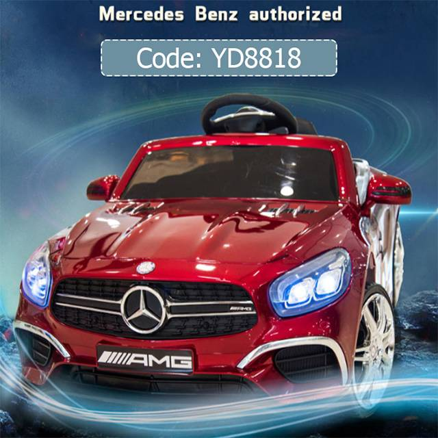 Mercedes-Benz Licensing Children's 1-4 YRS Electric Four-wheeled 12V7AH Battery car with Music LED light remote control (Model: YD8818)