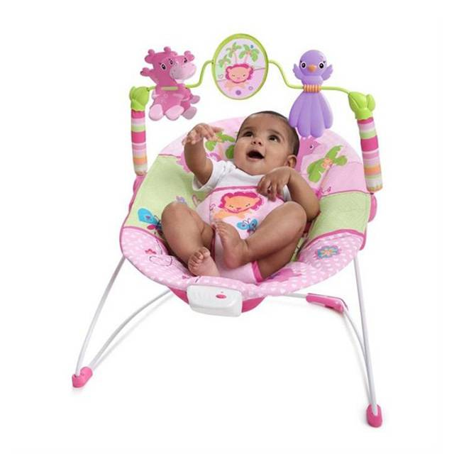 BRIGHT STARTS Sweet Safari Baby Bouncer (Model: 60116)