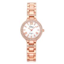 DISU Epoxy Alloy Pave Rhinestones Bracelet Quartz Movement Women's Watch (Model: DS024)