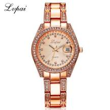LVPAI Pave Crystal Date Just Analog Quartz Movement Women's Watch (Model: P001)
