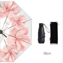 ULTRA-LIGHT Mini 5-Fold Sunscreen UV SPF50 Floral Print Umbrella (MODEL:5F8BF)