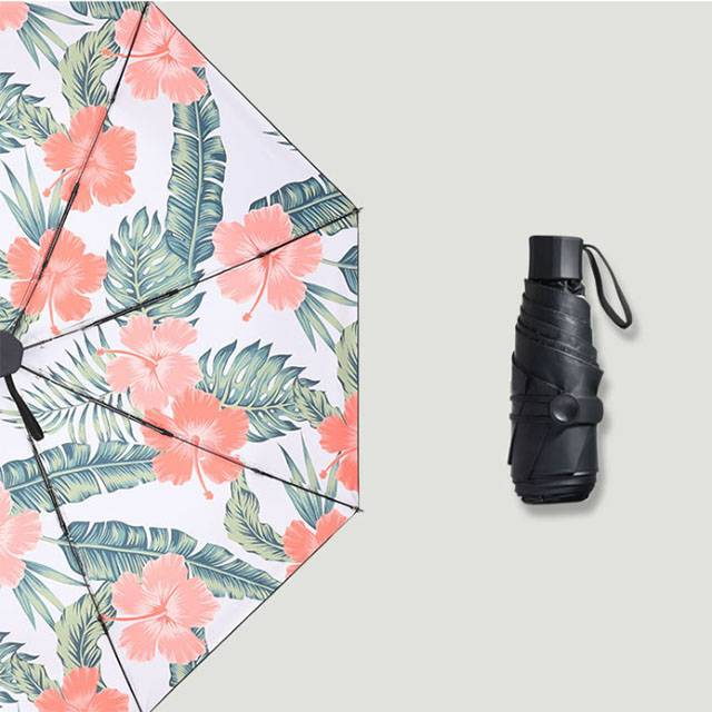 ULTRA-LIGHT Mini 5-Fold Sunscreen UV SPF50 Toon Print Umbrella (MODEL:5F8BT)
