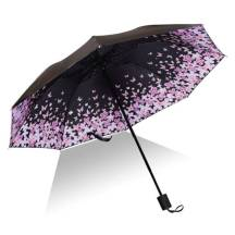 3-Fold Sunscreen UV SPF50 Floral Butterfly Umbrella (MODEL:3F8BFB)