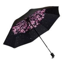 3-Fold Sunscreen UV SPF50 Cherry Print Umbrella (MODEL:3F8BBC)
