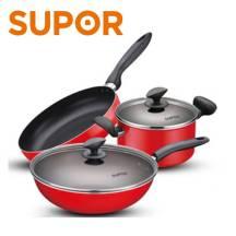 SUPOR Cookware Gas Stove Non-Stick Frying Pan Soup Wok 3 Piece Set (TP1612E)