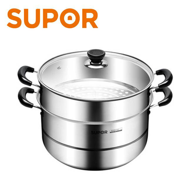 SUPOR 304 Stainless Steel 26cm 2 layer double Steamer Pot (MODEL:SZ26B5)
