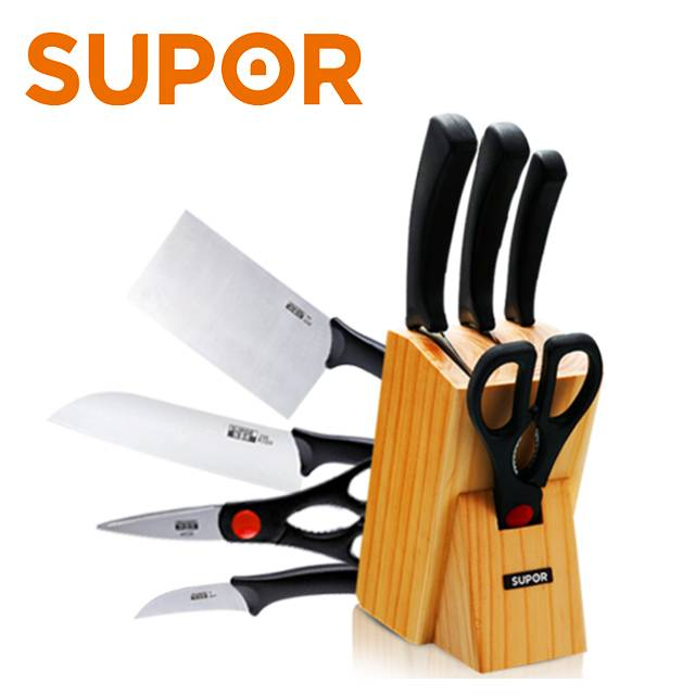 SUPOR Kitchenware 304 stainless steel kitchen Multi-knife combination 5 Piece set (MODEL:T0924K)
