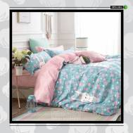 The Gift 100% Cotton Double Fitted Bed Sheet (MS 40405)