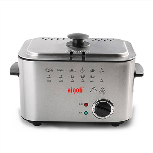AIGOLI Mini Constant Temperature Household Small Electric Fryer (Model: XJ-6K116)