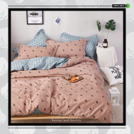 The Gift 100% Cotton Double Fitted Bed Sheet (MS 40406)