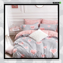 The Gift 100% Cotton Double Fitted Bed Sheet (MS 40408)