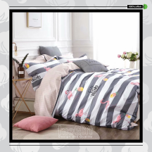 The Gift 100% Cotton Double Fitted Bed Sheet (MS 40409)
