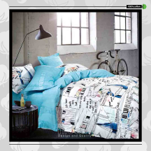 The Gift 100% Cotton Double Fitted Bed Sheet (MS 40412)