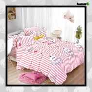The Gift 100% Cotton Double Fitted Bed Sheet (MS 40414)