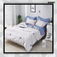 The Gift 100% Cotton Double Fitted Bed Sheet(MS 40416)