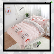 The Gift 100% Cotton Double Fitted Bed Sheet(MS 40419)