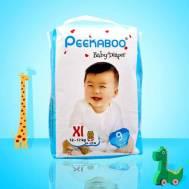 Peekaboo Baby Diaper (XL) 9Pcs