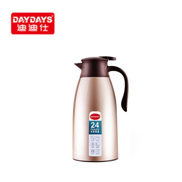 DAYDAYS Household 304 Stainless Steel 24H Thermo Thermal Glass Liner Insulation Kettle, 1.9L (Model:780)