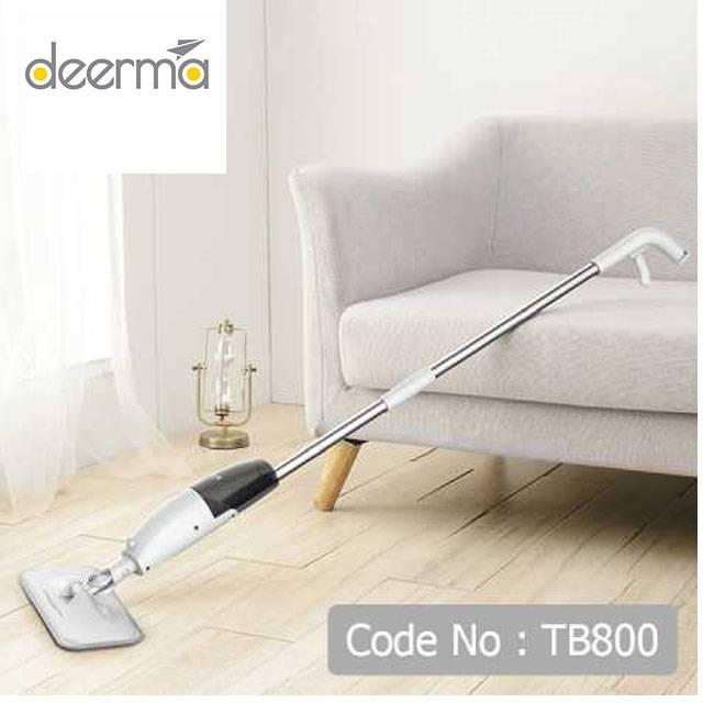 DEERMA Wet & Dry Hands-Free Steam Spray Lazy Mop (Model:TB800)