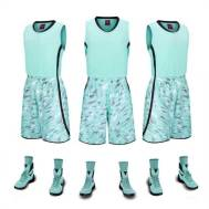 Sports Normal Basketball Jersey Sult (Green-1851)