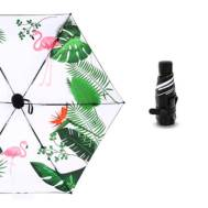 ULTRA-LIGHT Mini 5-Fold Sunscreen UV SPF50 Flamingo Umbrella (MODEL:5F6BF02)