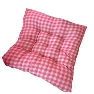 Red Checkered Tatami Soft Chair & Stool Cushion 40x40cm(Model:MDJ-8539)