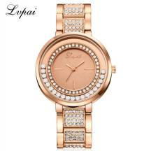 LVPAI Crystal Pearl Studded Analog Quartz Movement Women's Watch (Model: P274)