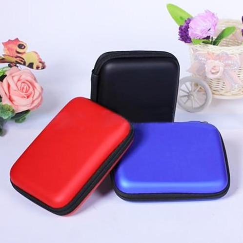 Hanye Hard Drive Disk Carry Case Cover Multifunction Cable Earphone Power Bank Pouch Bag (ASHY80BL)