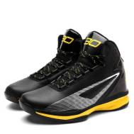 WOW SPORTS Men's Sports High-Collar Basketball Shoes (Black/Yellow-Model: 078)