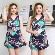 Women's Swimwear One-Piece All Over Print Swimming Dress (Model: 1991-NB)
