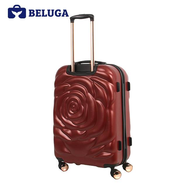 BELUGA Rose Lady Collection 20 Inches Travel Luggage Red Wine (Model:BE-ROSE-20)