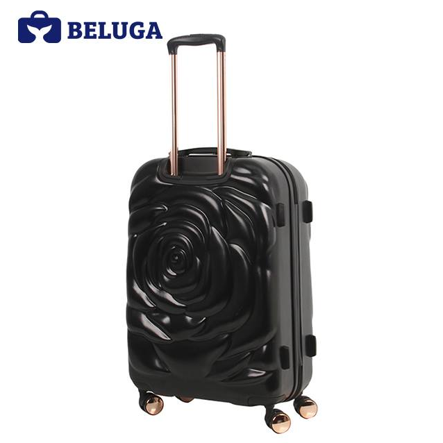 BELUGA Rose Lady Collection 20 Inches Travel Luggage Black (Model:BE-ROSE-20B)