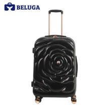 BELUGA Rose Lady Collection 24 Inches Travel Luggage Black (Model:BE-ROSE-24)