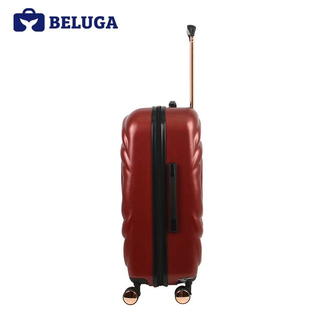 BELUGA Rose Lady Collection 24 Inches Travel Luggage Red Wine (Model:BE-ROSE-24)