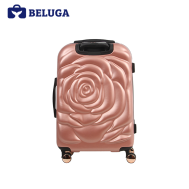 BELUGA Rose Lady Collection 24 Inches Travel Luggage Suitcase Rose Gold (Model:BE-ROSE-24RG)