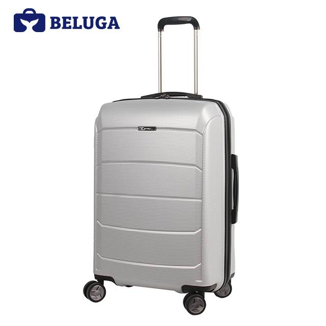 BELUGA Savvy Collection 24 Inches Travel Luggage Silver (Model:BE-SAVY-24S)