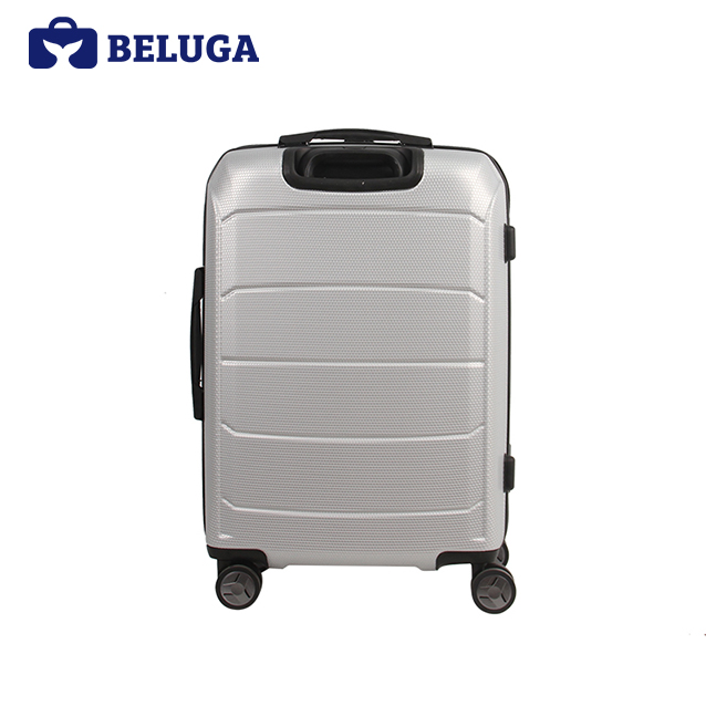 BELUGA Savvy Collection 20 Inches Travel Luggage Suitcase Silver (Model:BE-SAVY-20S)