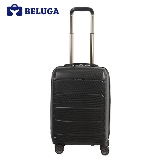 BELUGA Savvy Collection 20 Inches Travel Luggage Suitcase Black (Model:BE-SAVY-20)